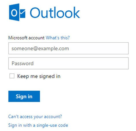 Hotmail Outlook Password Recovery