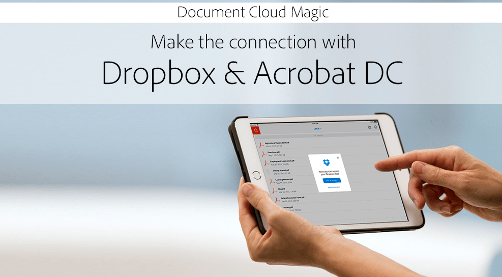 he Integration of Adobe with Dropbox