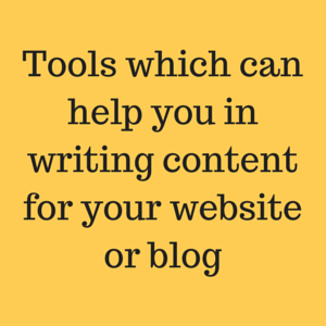 Tools which can help you in writing content